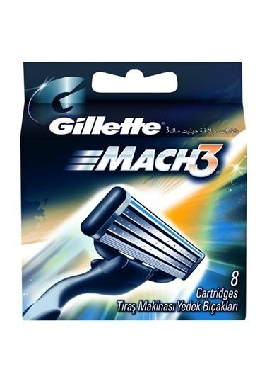 Gillette Mach3 Yedek Tıraş Bıçağı 8'li Renksiz